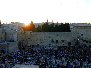 Western Wall sunrise on Shavuot, tb06090