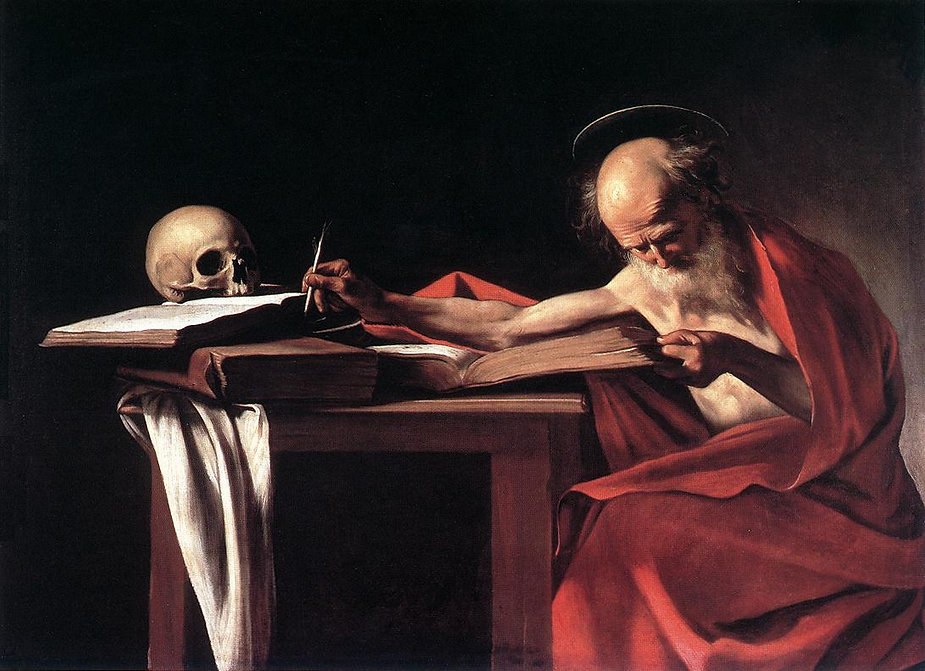 Caravaggio_-_Saint_Jerome_Writing,_c1606