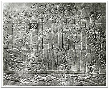 Prise d'une ville par les Assyriens