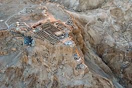 Masada northern palace aerial from north