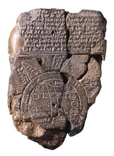 carte ancienne babylonienne