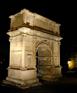 Arch of Titus at night, tb112002216.jpg