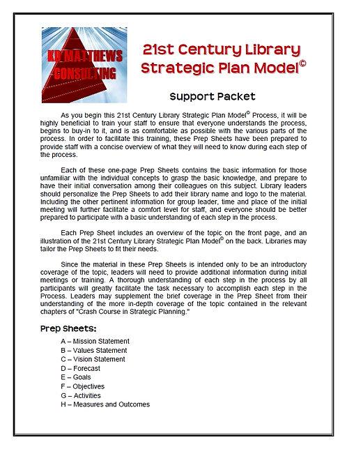21st Century Strategic Plan Model Support Packet