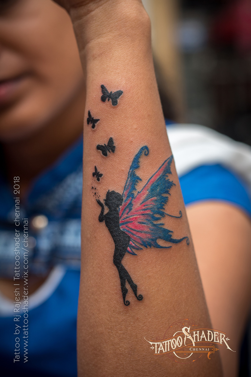Image result for fairy tattoo with butterfly