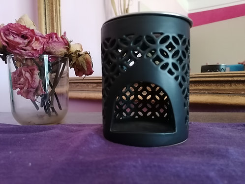 Räucherstövchen Keramik Schwarz