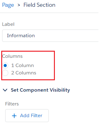 control the number of columns for the section in dynamic forms