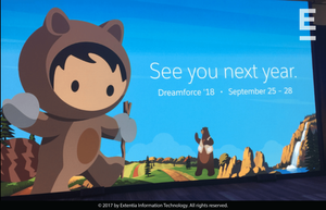 Dreamforce 2018 is already on our calendar