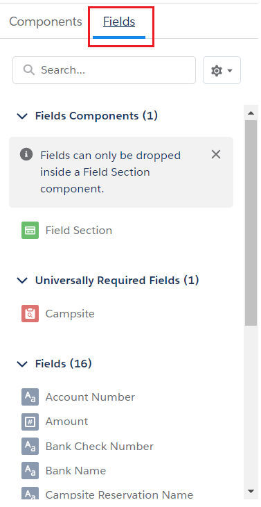 add or remove section and fields on the Lightning page in dynamic forms