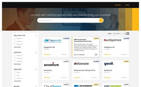Partner based portal