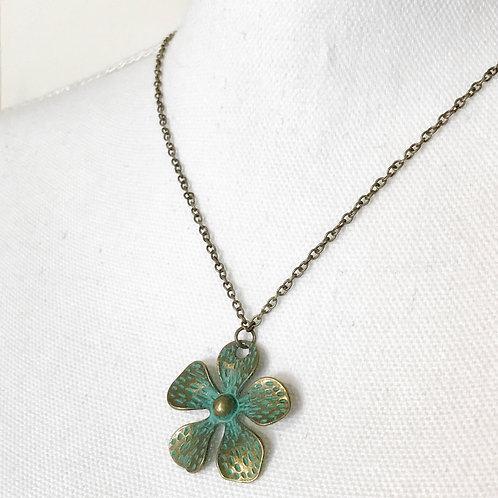 Patina Flower necklace