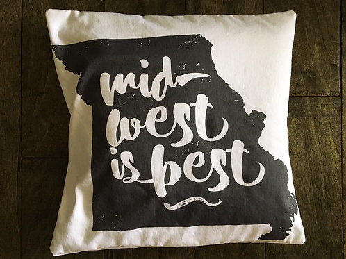 Midwest is Best pillow