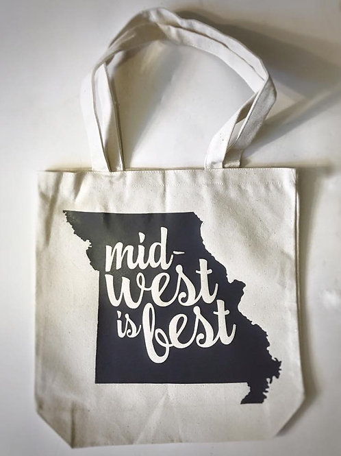Midwest is Best canvas totes