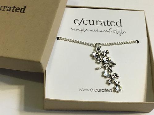Floral drop necklace