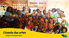 Muita animação e educação na Ciranda das Artes para filhos dos ambulantes durante o Carnaval.