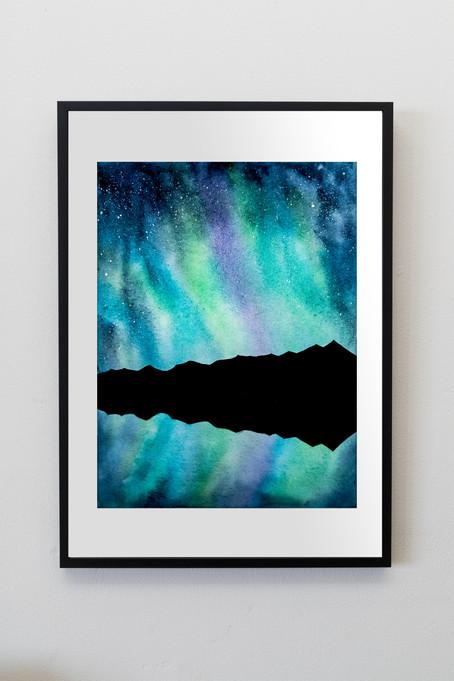 """Tenmile Aurora - 9x12"""" watercolor on paper"""