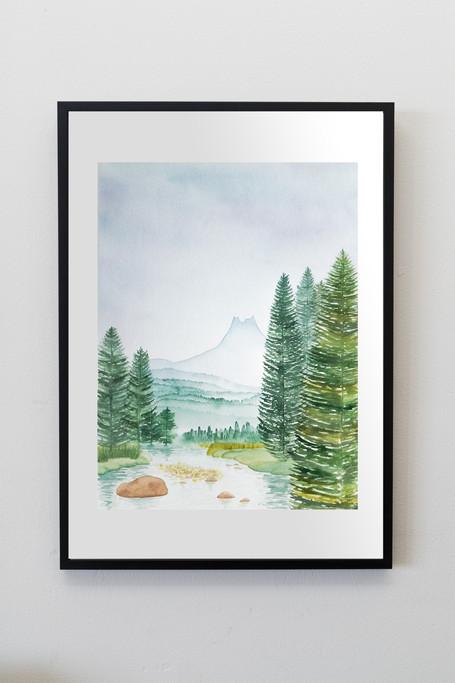"Yosemite - 9x12"" watercolor on paper"