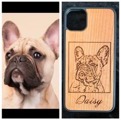 Dog Photo engraving