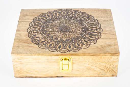 Custom Mango Wood Box 3 @QVM Flamin Signs