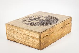 Tree of Life Large Mango Wood Box @QVM Flamin Signs