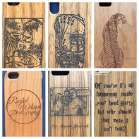 Photo-Business Logo - Any word Engraved phone case