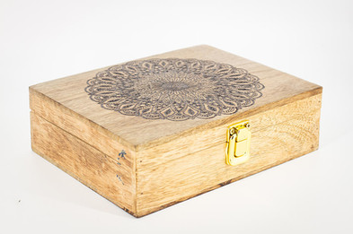 Custom Mango Wood Box 2 @QVM Flamin Signs