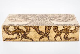 Tree of Life Extra Large Mango Wood Box @QVM Flamin Signs