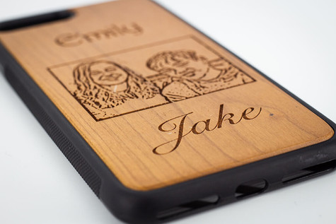 Photo and Name engraved Phone Case