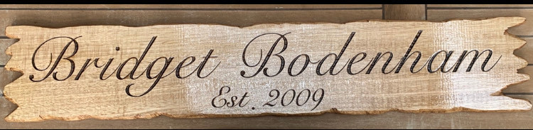 PERSONALISED WOOD SIGN with driftwood, jagged edge
