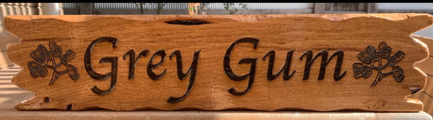 Custom Timber Sign with jagged driftwood type edge