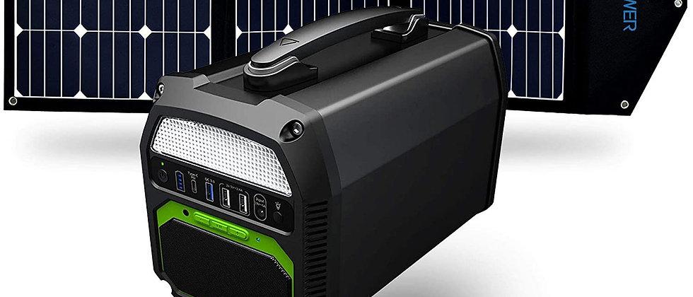 ACOPOWER 500W Generator and 120W Portable Solar Panel