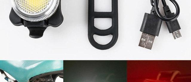 MUQGEW Bicycle Useful Equipments USB Rechargeable