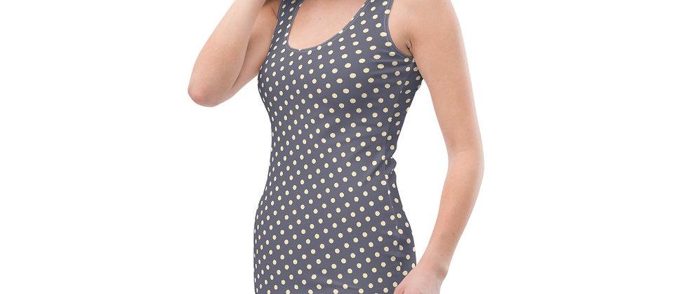 Gray Polka Dot Dress