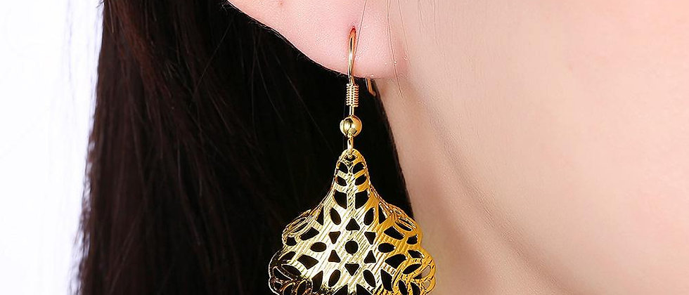 Ourense Drop Earring in 18K Gold Plated