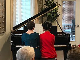 Iris & Candace perform a duet at the January 2020 recital.