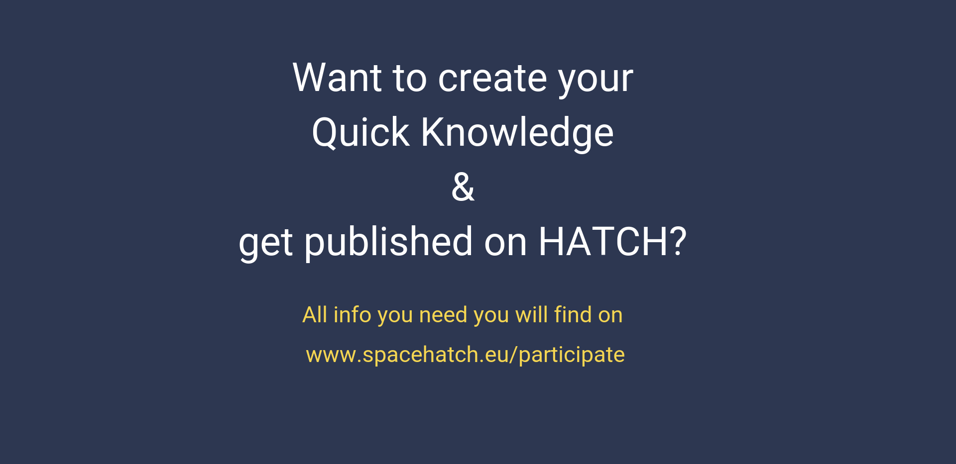 HATCH Quick Knowledge