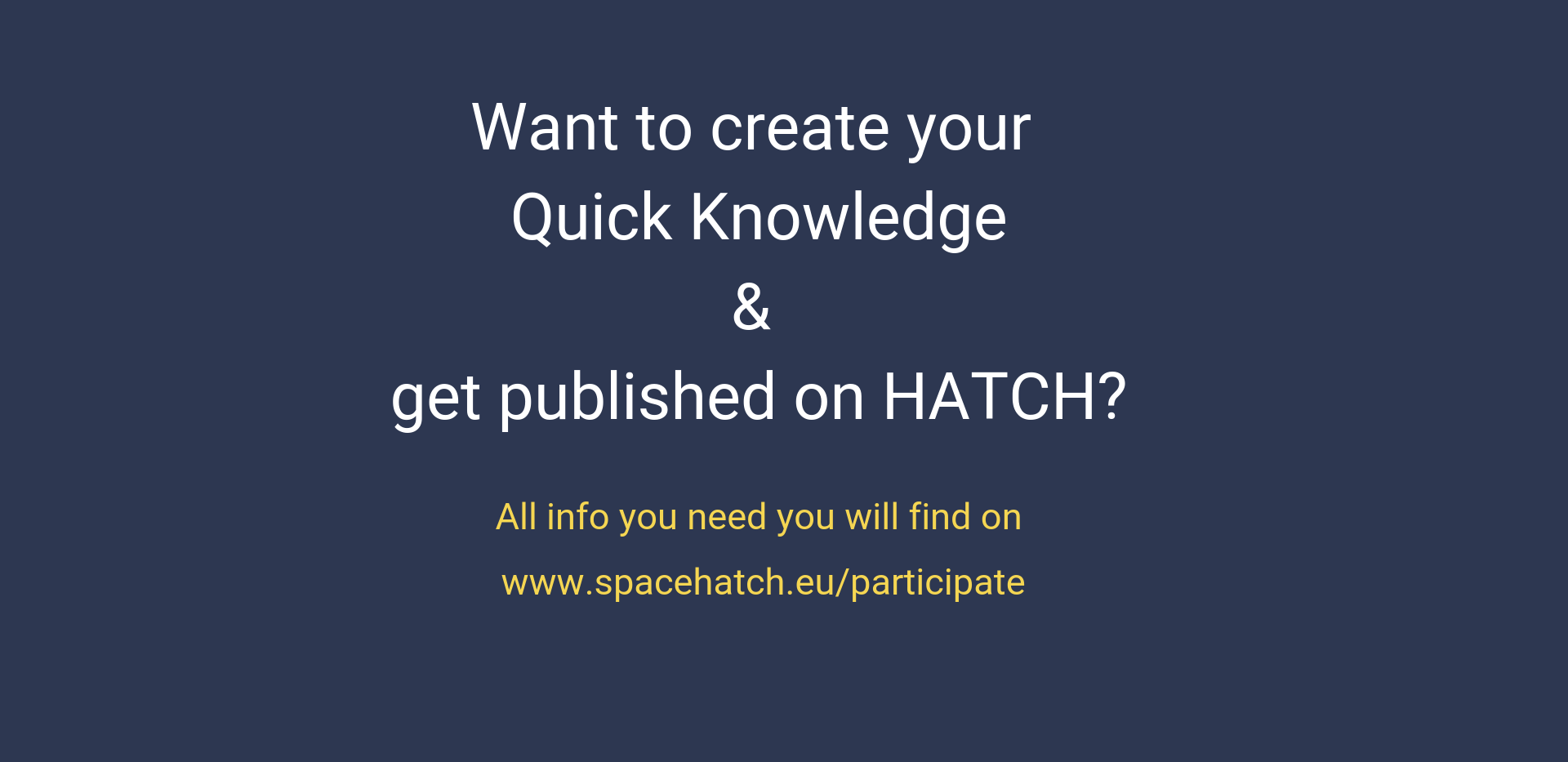 Quick Knowledge on HATCH