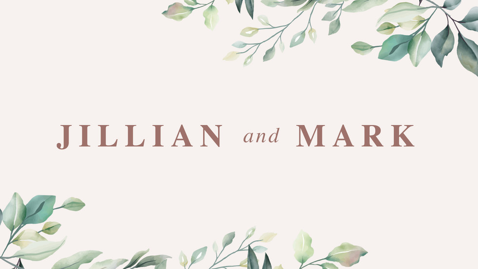 Jillian and Mark