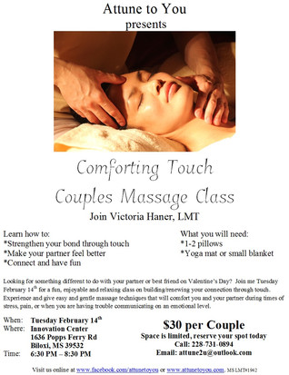 Comforting Touch Couples Class