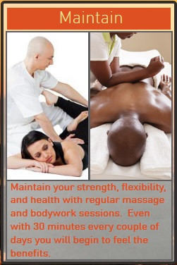 maintain health with massage