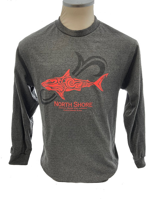 Tribal Art Shark Long Sleeve