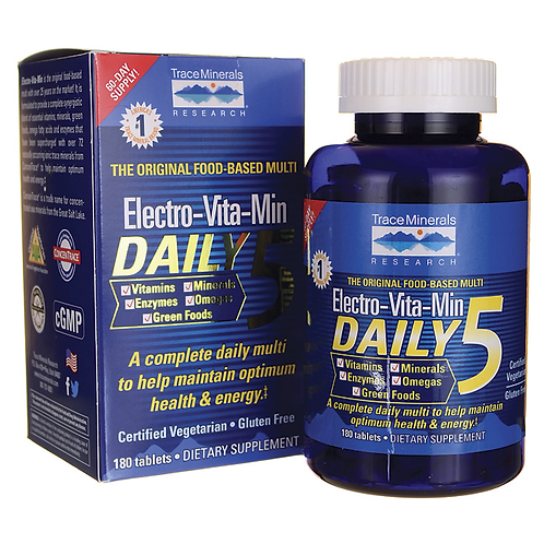 Daily 5 Multivitamin by Trace Minerals 180 Tab
