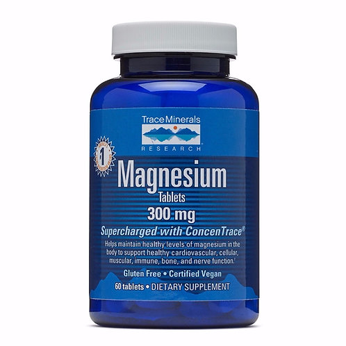 Magnesium 300mg by Trace Minerals 60 Tab