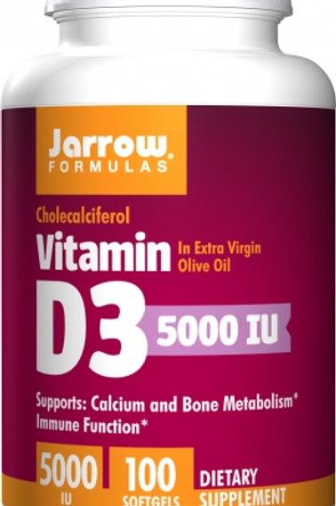 Vitamin D3 5,000IU by Jarrow 100 Softgels