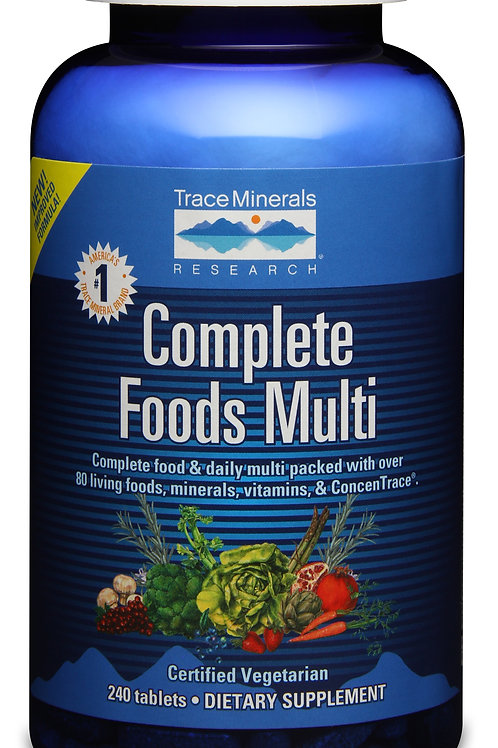 Complete Foods Multi by Trace Minerals 120 Tab