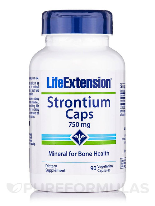 Strontium by Life Extension 750mg 90 Cap