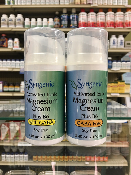 Activated Ionic Magnesium Cream with B6 by Syngenic 100mL