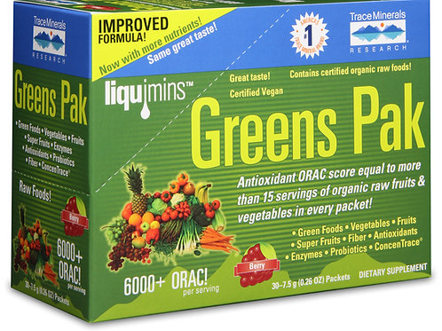 Greens Pak by Trace Minerals 30 Packet