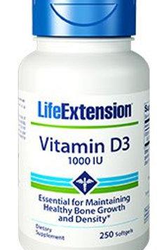 Vitamin D3 1,000IU by Life Extension 250 Softgels