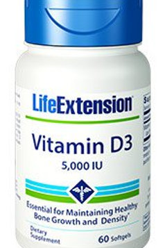 Vitamin D3 by Life Extension 5,000IU 60 Softgel