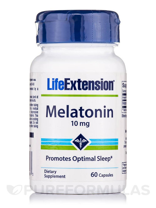 Melatonin 10mg 60 Caps by Life Extension